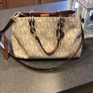 Michael Kors Vanilla Cynthia PVC handbag